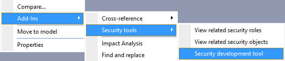 Tips on AX 2012 Security Development Tool - Part 1