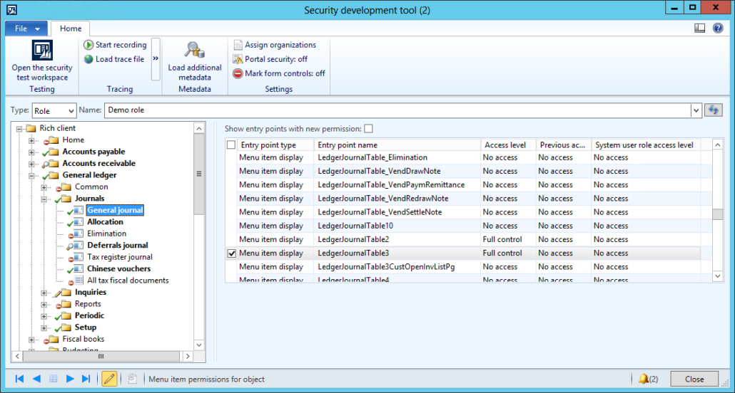 Tips on AX 2012 Security Development Tool - Part 5