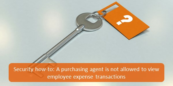 Security how to purchasing agent employee transactions